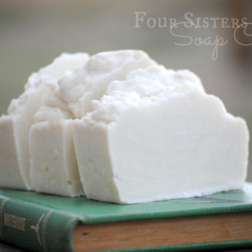 Four Sisters Farm Soap Co, Rosemary Mint, Nourishing Skin Bar Olive Coconut Oil, Minty, Green, White, Natural, Homemade Soap, Fresh, Clean