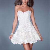 [99.99] Chic Tulle Sweetheart Neckline Short A-line Homecoming Dress - Dressilyme.com