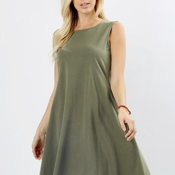 The Perfect Pocket Dress in Olive