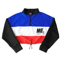 M.E. Crop Windbreaker (red, white, blue & black)