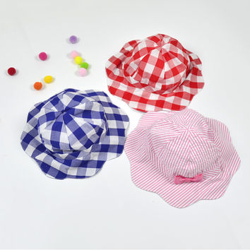 2016 Baby Girls Hat Fashion Warm Striped&Plaid Character Summer Hat For Baby Toddler Girls Beanies
