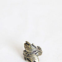 Feathered Finger Brass Ring