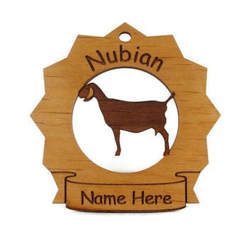 Nubian Goat Personalized Ornament