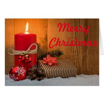 Candle Lit Merry Christmas Card