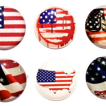20% OFF Memorial Day or Armed Forces Day USA Flag - 6 Piece iPhone Home Button Decal Stickers for Apple iPhone, iPad, iPad Mini, iTouch