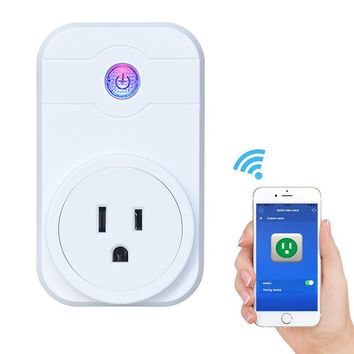 NATAMO WIFI Smart Plug Wireless Socket Outlet,Control Electronics for Household Appliances, Fits iPhone Android Phones IOS / Android App Remote Control with Timing Function