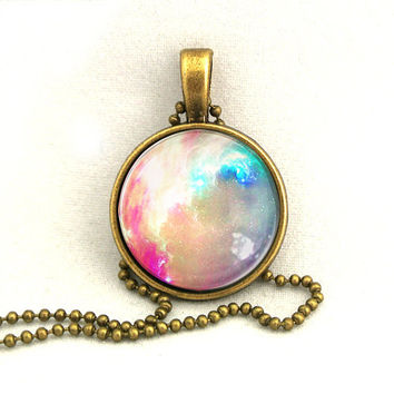 10 SALE Necklace Bright Galaxy Jewelry Universe by timegemstone