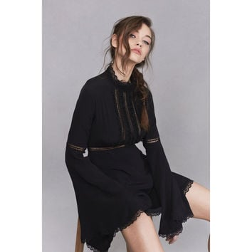 Willow Bell Sleeve Dress in Black