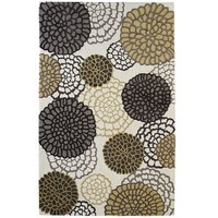 Gray & Gold Floral Mum Rugs