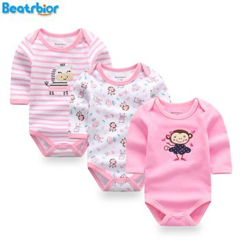 Baby Girl Clothes 100% Cotton Baby Rompers for Newborn Boy Girl Long Sleeve Baby Clothing Jumpsuits Cute Baby Boy Gril Romper
