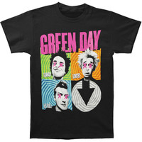 Green Day Men's  Spiral 4 T-shirt Black