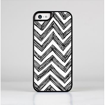 The Sketch Black Chevron Skin-Sert Case for the Apple iPhone 5c