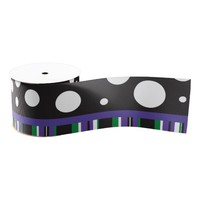 Purple & Green Blank Ribbon