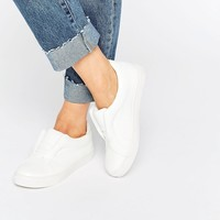 Lost Ink White Lace Free Plimsolls at asos.com