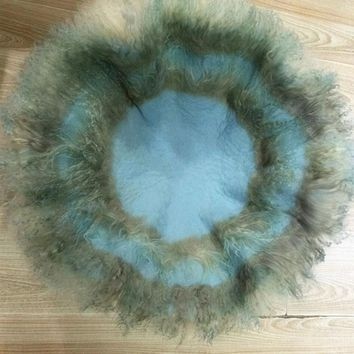 Circular diameter of 60 cm  Fluffy Wool Felt Fleece Real Pure Wool Basket Filler Stuffer Newborn Photography Props