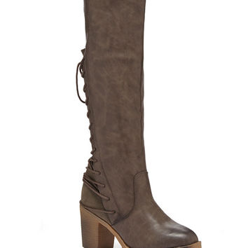Bucco Gray Lace-Up Rimaline Boot | zulily