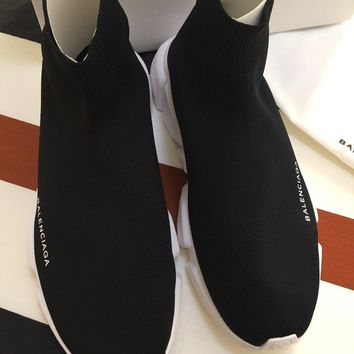 One-nice? Balenciaga Speed trainer Sneakers Hisock Knit Eu 43 US 10 Box New