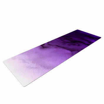 "Ebi Emporium ""Winter Waves 9"" Purple Abstract Yoga Mat"