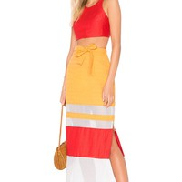 FLAGPOLE Nadine Skirt in Pearl, Tangerine & Strawberry | REVOLVE