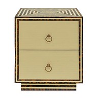 Worlds Away Rumi Two Drawer Side Table