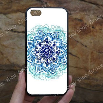 Mandala flower iPhone Case,samsung case,iPhone 5C 5/5S 4/4S,samsung galaxy S3/S4/S5,Personalized Phone case