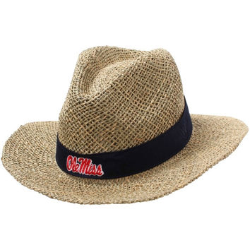 Top Of The World Mississippi Rebels Bunker Straw Hat