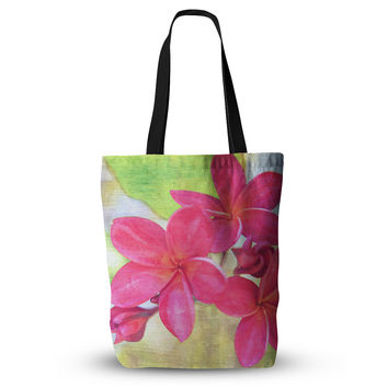 "Sylvia Cook ""Plumeria"" Flower Petals Everything Tote Bag"