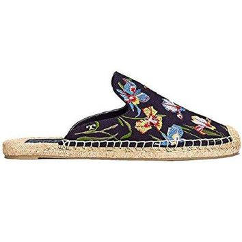 ONETOW Tory Burch Navy Max Floral Espadrilles