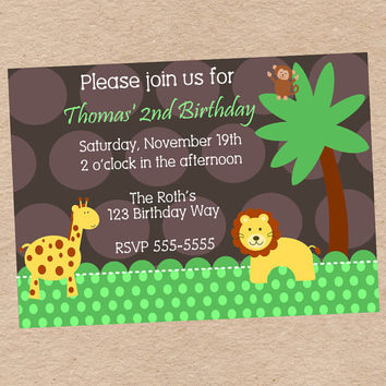 Childrens Jungle Themed Birthday Party By DecorableDesigns