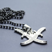 Doouble Zulfiqar Necklace (Shia Muslim Islamic Necklace - Imam Ali Sword Necklace) - Zulfiqar Pendant