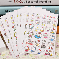 The new phone stickers Lovely Hello Kitty cartoon phone decorative female favorite DIY sticker