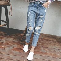 Summer Distressed Boyfriend Jeans