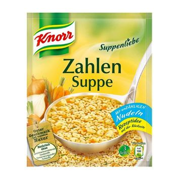 Knorr - Soup Love (Suppenliebe) Vegetable Zahlen Soup, 2.9 oz