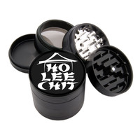 "Ho Lee Chit Design - 2.25"" Premium Black Herb Grinder - Custom Designed"