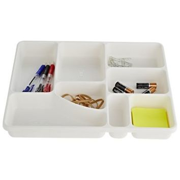 Madesmart® Drawer Organiser Tidy Tray 8 Hole - White