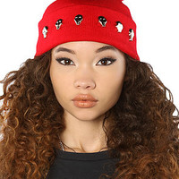 Harlett The Skull Beanie in Red : Karmaloop.com - Global Concrete Culture