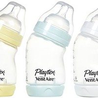 Playtex VentAire Wide Bottle - Boy - 6 oz - 3 ct - Free Shipping