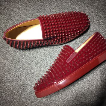 DCCK Christian Louboutin Oxford CL fashion casual shoes red sole for men and women jeans 90524