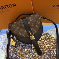 Louis Vuitton LV Women Shopping Leather Crossbody Shoulder Bag