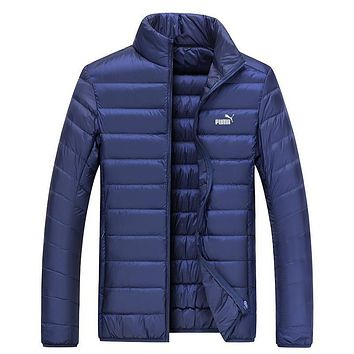 Puma Women Men Fashion Eider Down Cardigan Jacket Coat Windbreaker