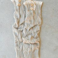 Ivory Crochet & Lace Boot Cuffs [6429] - $14.00 : Vintage Inspired Clothing & Affordable Dresses, deloom | Modern. Vintage. Crafted.