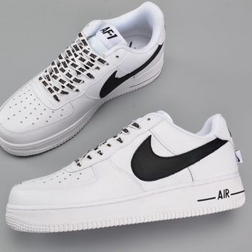 Nike Air Force 1 Low Statement Game White Black 823511-103 823511-103 - Beauty Ticks