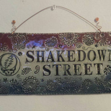 Ready to Ship Grateful Dead SHAKEDOWN STREET Wall Piece  ~ Steal your Face (~);} Jerry Garcia ~ Stealie ~ GD 13 bolt