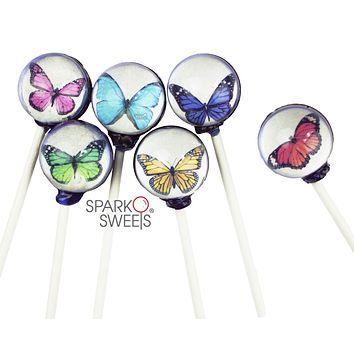 Butterfly Picture Lollipops (10 Pieces)
