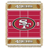 San Francisco 49ers NFL Triple Woven Jacquard Throw (Field Baby Series) (36x48)
