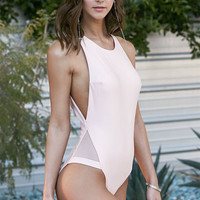 LA Hearts Mesh Inset One Piece Swimsuit at PacSun.com