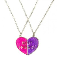 Bff Neon Magnetic Heart Necklaces | Girls Jewelry Accessories | Shop Justice
