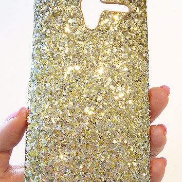 New Motorola Moto X Silver GOLD Cluster Sequin Bling Phone Case Cover