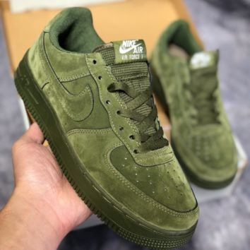 KJUYOU N455 Nike Air Force 1 AF1 LV8 LTR Low Suede Fashion Casual Skate  Shoes Green 3a1bd3802de7