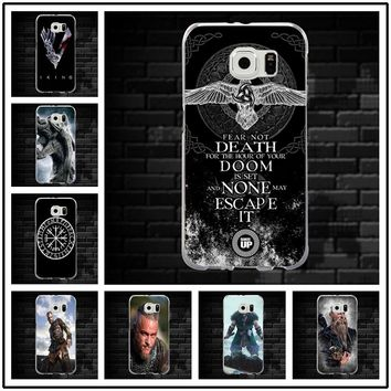 Hot Vikings Ragnar Cross Soft TPU Phone Cases Slim Cover for Samsung Galaxy Note 2 3 4 5 8 S3 S4 S5 Mini S6 S7 S8 S9 Edge Plus